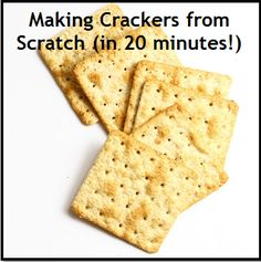 Homemade crackers in 20 minutes! Learn all you need to know about making crackers from scratch The flavors are limited only by your imagination!