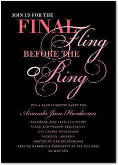 Final Fling:Medium Pink