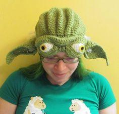 Yoda Hat Jedi Master Star Wars Fan Art Crocheted to Order in All sizes