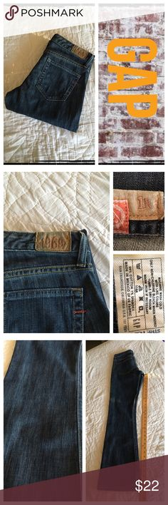Gap 1969 slim boot cut dark denim jeans BNWOT.  -REASONABLE OFFERS ONLY- -Smoke and pet free - I try to stay around 75% off MSRP; please keep this in mind when making offers.  -I do not model anything; everything looks different on everyone and I don't wasn't too Jade that. I will provide measurements if needed.  -NO HOLDS, NO TRADES, POSH RULES ONLY! GAP Jeans Boot Cut