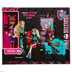 Monster High Coffin Bean Playset + Clawdeen Doll New in Box!! Great Gift! X3721 #Mattel #HousesFurniture