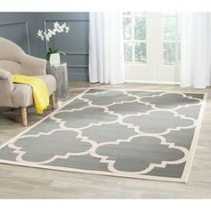 Shop for Safavieh Courtyard Quatrefoil Grey/ Beige Indoor/ Outdoor Rug. Free Shipping on orders over $45 at Overstock.com - Your Online Home Decor Outlet Store! Get 5% in rewards with Club O! - 14819395