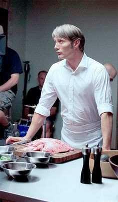 Hannibal BTS: Just choppin' up some lungs