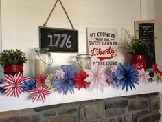 Fourth of July mantle