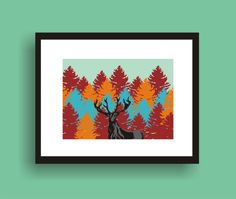 Elk   Pop Art Original Print  by C Wiedenheft by PopGozTheEasel, $8.00