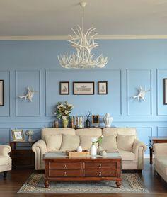 Американская страна гостиной люстра Европейский средиземноморский ресторан белые оленьи творческое кафе-бар садовые светильники -tmall.com Lynx