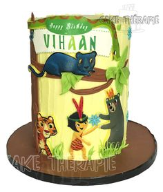 Cute jungle book cake