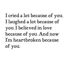 All because of you...