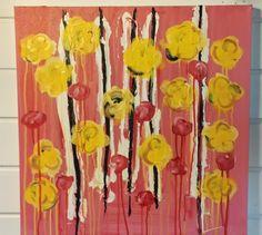 """"""" blomstereng"""" akryl på lerret  Artist : Lill-B Lauritzen"""
