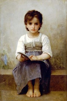 The hard lesson by William Adolphe Bouguereau