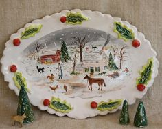 Christmas on the Farm by Julie Whitmore Pottery