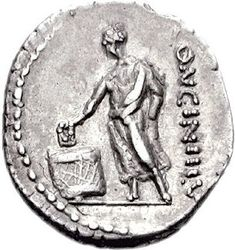 "Roman tribe - Wikipedia - ""A Roman denarius of 63 BC: a voter casting a ballot"" Athenian Democracy, Roman Man, Polling Stations, Roman Sculpture, Roman History, Ancient Greece, Roman Empire, Archaeology, Romans"