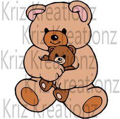 Bear Hug SVG Cut File by KrizKreationz on Etsy
