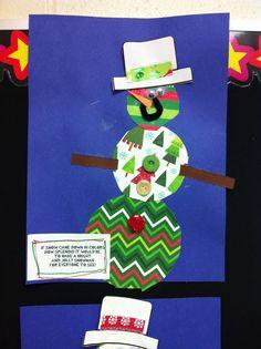 Preschool colourful snowman craft