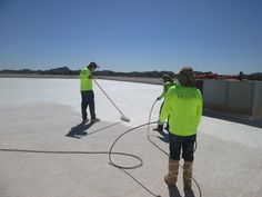 Roof coating project. Surfaces that come in contact with water should be coated with NSF-61 certified coatings.