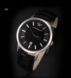 AR2411 AR2412 Original Armani Watch For Men/Women New Trend Quartz Watch For Lovers 100% Leather Original Box