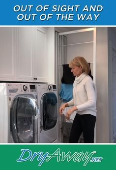 Eco-Friendly Built In Laundry Room Clothes Drying Racks - DryAway Laundry Room Layouts, Laundry Room Remodel, Laundry Closet, Laundry Room Organization, Laundry Room Design, Laundry Room Bathroom, Modern Laundry Rooms, Basement Laundry, Organization Ideas