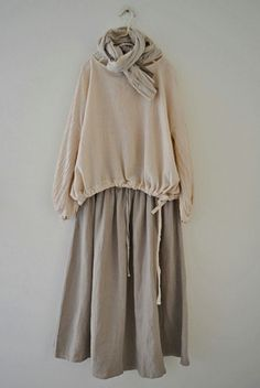B / B waist wrinkle linen blouse (beige) Muslim Fashion, Modest Fashion, Korean Fashion, Fashion Dresses, Casual Hijab Outfit, Casual Dresses, Fashion Moda, Girl Fashion, Bohemian Clothing