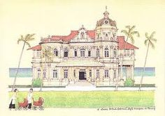 British Colonial style mansion in Penang.