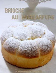 Brioche with mascarpone without butter - Dessert Bread Recipes Dessert Bread, Dessert Recipes, Baking Desserts, Cooking Chef, Cooking Recipes, Desserts With Biscuits, Kolaci I Torte, Bread And Pastries, Patisserie