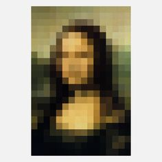 Print of Pixel Mona Lisa