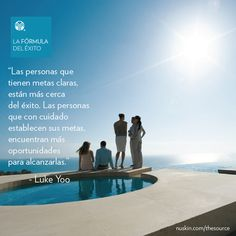 Las personas que tienen metas claras, están más cerca del éxito. #FórmulaDelÉxito Nu Skin, Closer, Opportunity, Success, Goals, Outdoor, Future, Beauty Box, People