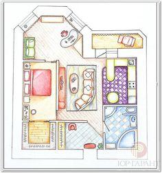 план квартиры вид сверху рисунки: 19 тыс изображений найдено в Яндекс.Картинках