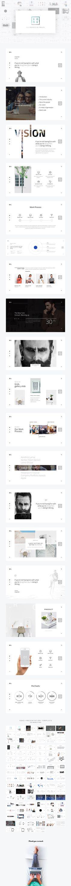 XOXO-Minimal Presentation Template on Behance