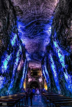 the Salt Cathedral of Zipaquirá outside Bogota, Colombia. I must see this place!