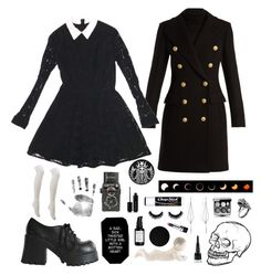 """""""Untitled #58"""" by livingvenus ❤ liked on Polyvore featuring Balmain, ASOS, Charlotte Russe, Royal Copenhagen, Diane Kordas, Manic Panic NYC, Marc Jacobs, Root Science, Chapstick and Chanel"""