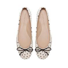 Polka Dot Ballerina Shoes - ZARA