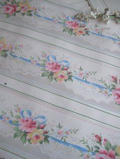 So sweet!  Love old wallpaper