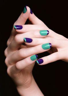 colorblock_nails_french_manicure_ysl_1 #spring #nails #nailart #beautyinthebag
