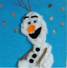 Knutselpakket Frozen Olaf knutselen op canvasdoek bij Puck & Pol Olaf, Opening Day, Snowman, Disney Characters, Fictional Characters, Crafts, Blockchain, Kindergarten, Stage