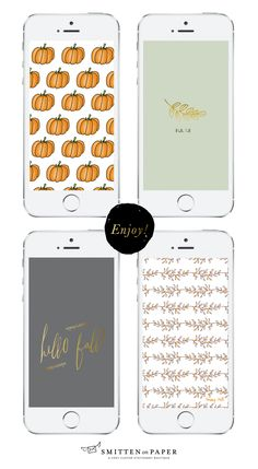 Welcome Fall with these Freebie Mobile Wallpapers | Smitten on Paper