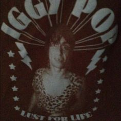 HEART CUT OUT IGGY POP TANK crop top with IGGY pop and a heart cut out in the back! Tops Tank Tops