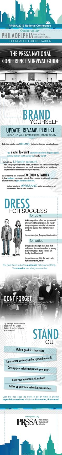Before arriving in Philadelphia for the PRSSA 2013 National Conference, refer to our survival guide for all things Conference-related. Visit the National Conference website, Facebook and Twitter for more information.