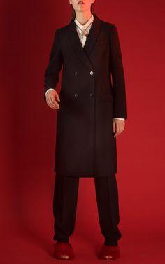 Cédric Charlier Pre-Fall 2015 Fashion Show Tailored Coat, Black Trousers, Donna Karan, Fashion Show, Fashion Design, Long Sleeve Shirts, Suit Jacket, Style Inspiration, Fall 2015
