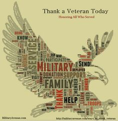 Thank a Veteran.  Ideas for Veterans Day and every day.
