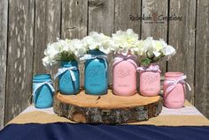 Hey, I found this really awesome Etsy listing at https://www.etsy.com/listing/245968021/gender-reveal-mason-jars-baby-shower