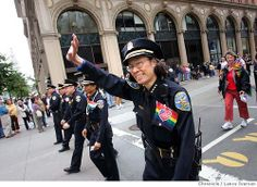 gay police pride   sf police chief heather fong and command staff 1