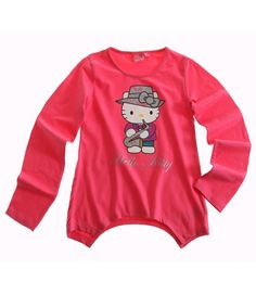 Hello Kitty T-shirt manches longues rose Enfant Fille Officiel par UnCadeauUnSourire.com