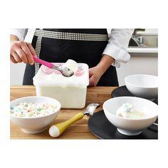 CHOSIGT Cuchara para helado, amarillo/verde, azul/rosa