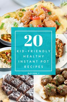 If you're looking for some easy, family friendly meals that are healthy and delicious, you'll want to check out these 20 Instant Pot Recipes. Not only are these recipes kid-friendly, but they're easy to make and quick! If you're looking to do some batch cooking or for some dinner in under 30 minute ideas, this recipe round-up is sure to please! #instantpot #batchcooking #freezermeals #mealplanning #healthyrecipes
