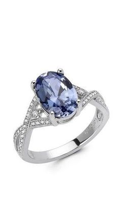 Diamond & Tanzanite Ring.  This stone...ahh. So rare.