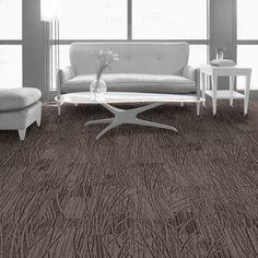 Interface carpet tile: WE152 Color: Driftwood 104421 Installation method: Ashlar                Room scene: Lounge