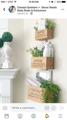 Country Life, Country Living, Rustic Farmhouse, Farmhouse Style, Kitchen Ideas, Kitchen Decor, Herb Wall, Farm House, Dining Rooms