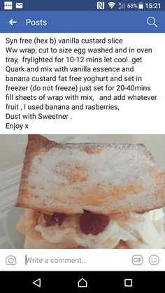 Slimming World Deserts, Slimming World Recipes Syn Free, Syn Free Food, Yummy Food, Delicious Recipes, Dessert Recipes, Desserts, Food Hacks, Sweet Recipes