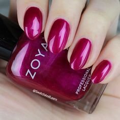 #ZoyaFallon: a pearly magenta from the #ZoyaPartyGirls Collection that reminds me of festive ribbon candy...and #JimmyFallon! (See collection swatches on SwatchAndLearn.com.) #zoya #EverydayZoya #ManiMonday#NOTD #SwatchAndLearn