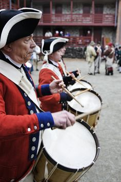 Old Barracks Fifes and Drums in the Battle of Trenton during Patriots' Week 2012.